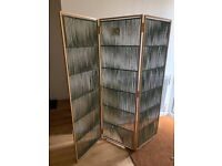 Beautiful heavy weight green room dividers/screens ..great for working from home!