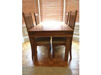 Beautiful Solid Wood Dinning Table and Chairs