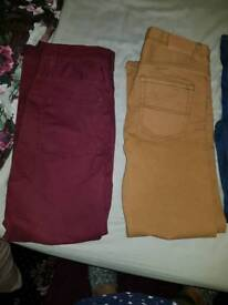 13 To 14 years chinos jeans and shirts