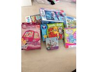 massive bundle of jigsaws and board games for girls
