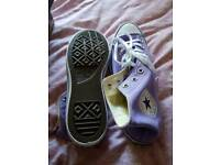 Lilac mens Converse. Size 12. Brand new never used.