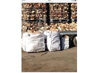Dry firewood logs , sticks , kindling