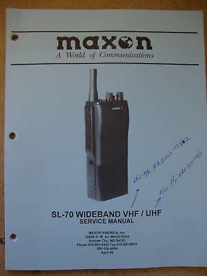 Maxon Sl-70 Wideband Vhf Uhf Service Manual  231