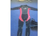 3:2 Wetsuit and boots Child size 12-13years