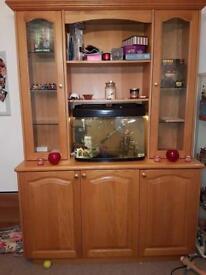 Large solid oak cabinet