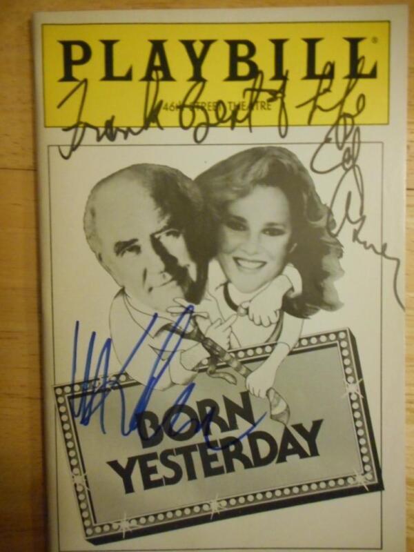 Madeline Kahn Edward Asner (Inscribed) Jbara Signed Born Yesterday Playbill 1989