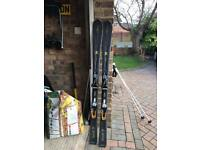Ladies atomic skis and poles