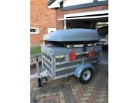 Camping trailer designed and built for camping equipment. Lightweight aluminium chassis and frame.