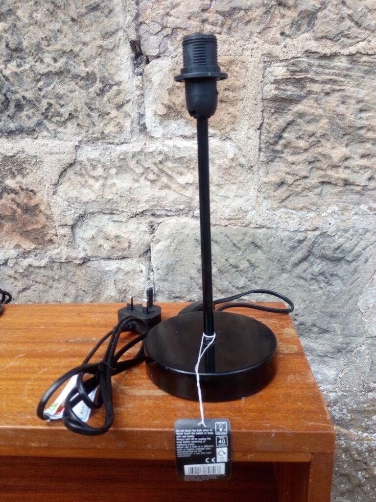 Black lamp base