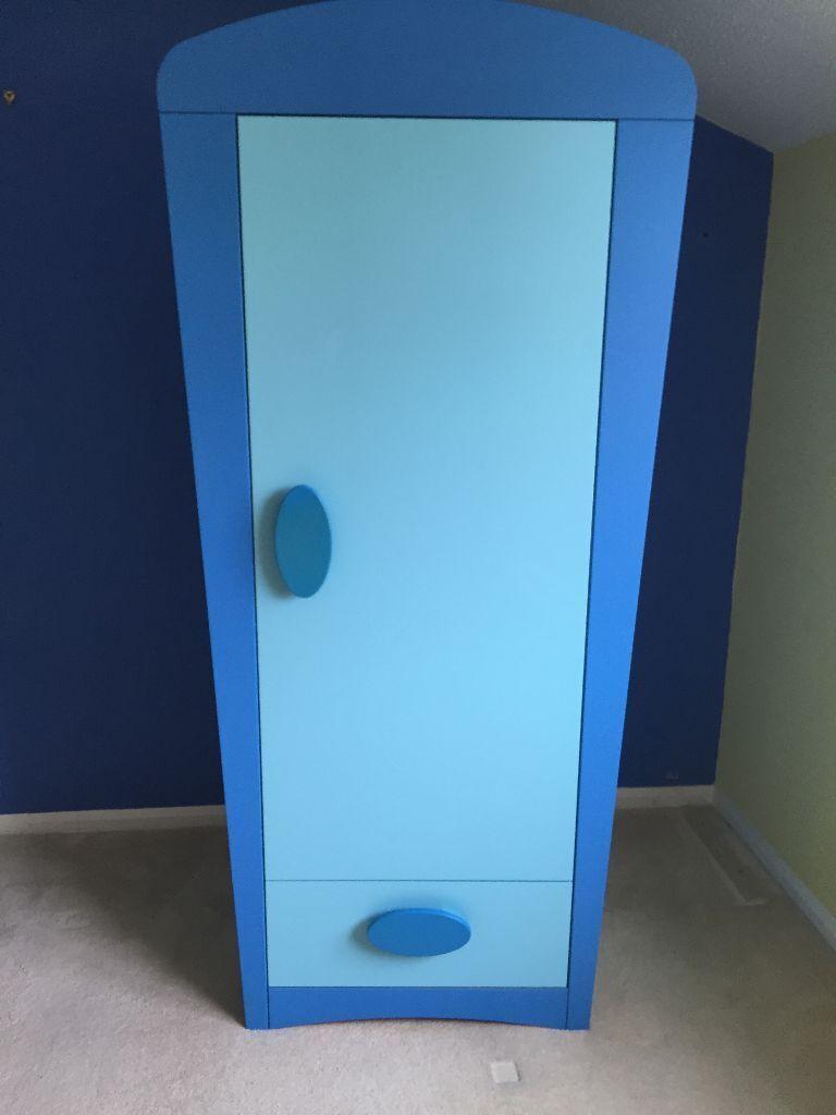 Ikea mammut childrens kids wardrobe blue in exeter devon gumtree - Ikea kinderstuhl mammut ...