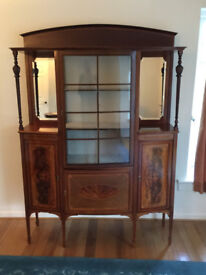 Edwardian style display cabinet