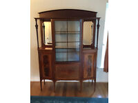 Edwardian style display cabinet