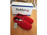 *Brand new* Ladies red slippers by Padders