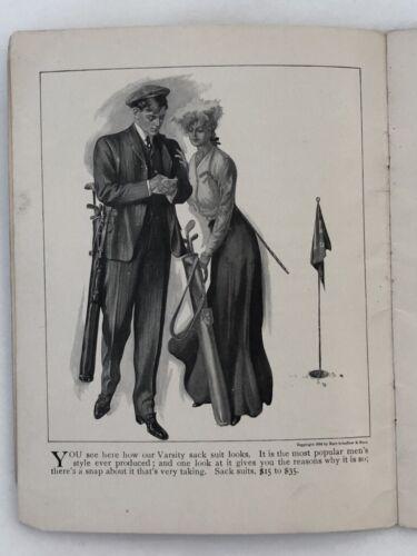 1904 MEN FASHION STYLE BOOK Catalog GOLF Illustration Antque HART SCHAFFNER MARX