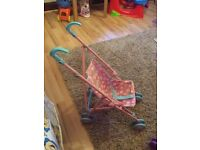 Kids toy Pram pushchair