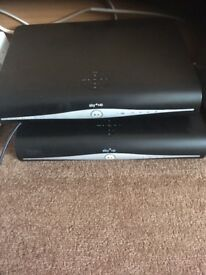Sky HD box with remotes