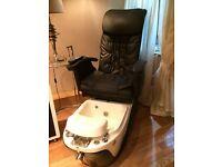 Black DIR Dragon Spa Pedicure Massage Chair