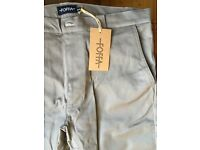 Foffa smart/casual chino trousers for cycling, 32R, £45, brand new, never worn. Reflective elements.