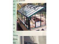 Large ¾ lean-to with ridge - aluminium greenhouse
