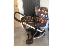 Cosatto travel system carrycot, pushchair, car seat & raincover
