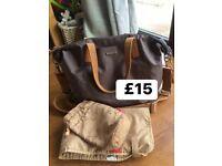 Storksak grey changing bag