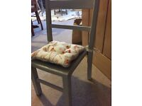 Old wooden school chair - painted in Annie Sloan Paris Grey chalk paint