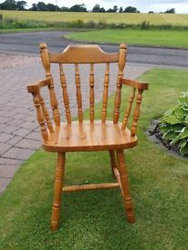 Solid pine chair