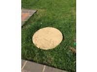 14 rustic gold stepping stones - 450mm