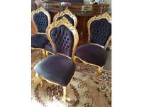 Baroque style dining chairs