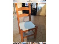 Stripped Pine Table and 4 solid Beech chairs