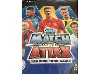 Match attax champions league 16/17 folder nearly full plus 5 ltd editions