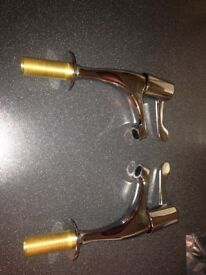 Pair of 1/4 turn sink taps, new