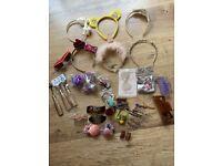 Girls Bundle hair accessories + sunglasses + keyrings