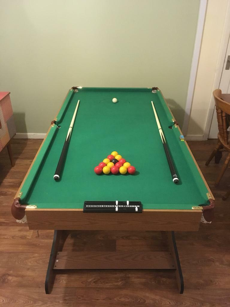 6 foot folding snooker/pool table