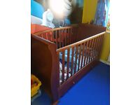 Sleigh 3 in 1 cot bed