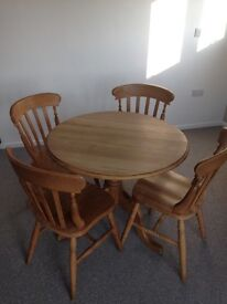 Beech wood Breakfast Table and Chairs