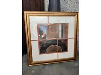 Large abstract framed print