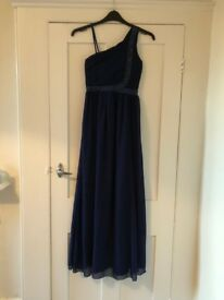 Navy blue prom dress/evening gown - size 10