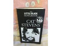 THE LITTLE BLACK SONGBOOK GUITAR CHORDS - CAT STEVENS MUSIC LYRICS BOOK
