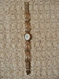 Ladies / Womens Gold Plated Rotary Wrist Watch / Wristwatch with clasp fastening