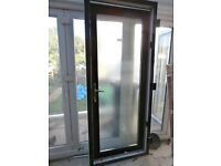 New PVC and glass back door with frame