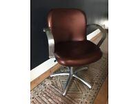 Cool copper + chrome retro office chair