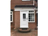 Porch UPVC double glazed door 12 months old Excellent condition