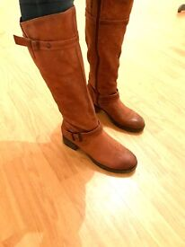 Tanned Leather boots Size 7