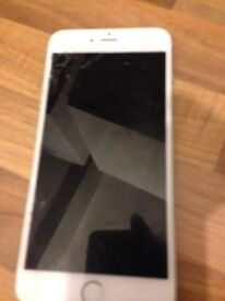 iPhone 6 Plus with a cracked screen