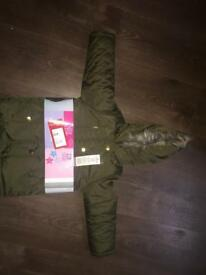 Girls parka jacket 3-4 yrs