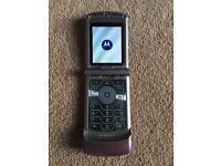 Motorola Razr V3 Flip phone Pink Unlocked
