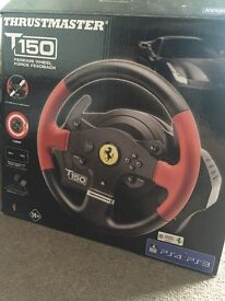 *Brand new * PS4 T150 Thrustmaster Ferrari Steering Wheel