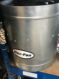 """Cheshunt Hydroponics Store - used 12"""" CanMax fan 3510m3"""