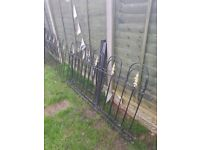 Metal Garden Fencing including Gate and Posts. Excellent Condition